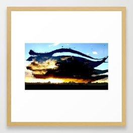 Dread Sunset Framed Art Print