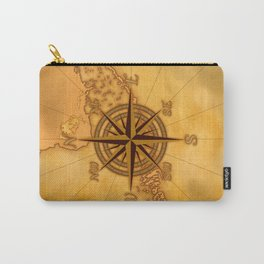 Antique Style Compass Rose Carry-All Pouch