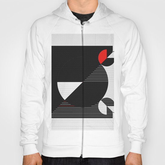 Black and white meets red Version 22 Hoody