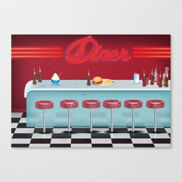 Classic All American Diner Canvas Print
