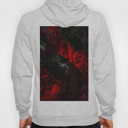 black and red rose Hoody