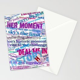 Hillary 2016 Abstract Headline Collage Stationery Cards
