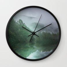 NC Foggy Morning Wall Clock