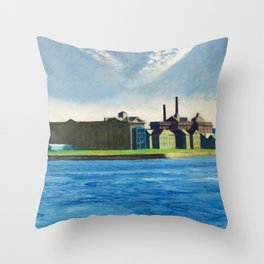 Roosevelt Island, New York City by Edward Hopper Throw Pillow