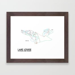 Lake Louise, Canada - Front - Minimalist Winter Trail Art Framed Art Print