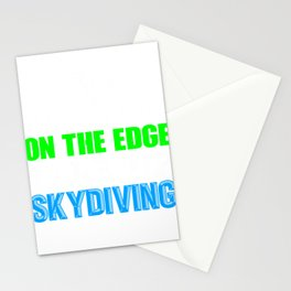 Skydiver Gift Live on the Edge Take Up Skydiving Stationery Cards
