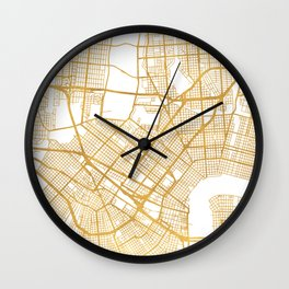 NEW ORLEANS LOUISIANA CITY STREET MAP ART Wall Clock
