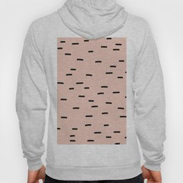 Peach dash abstract stripes pattern Hoody