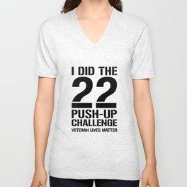 22 Push-Up Challenge Unisex V-Neck
