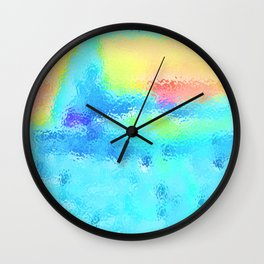 Lingering Snows Melting In The Sun Wall Clock
