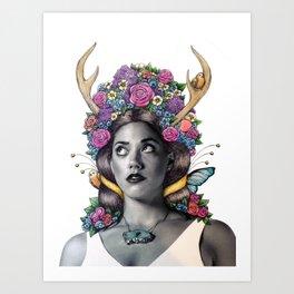 Flowered Prongs Art Print