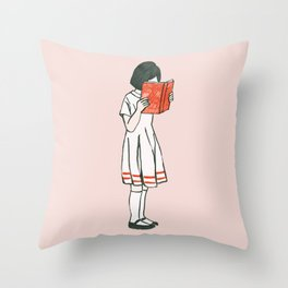 Avid reader Throw Pillow