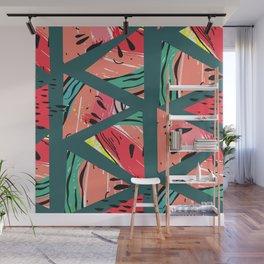 Green Watermelon pattern Wall Mural