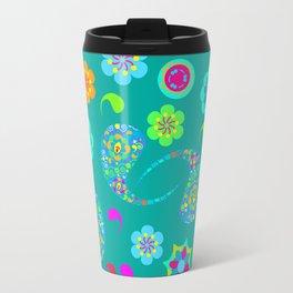 Green Paisley № 5 Travel Mug