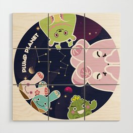 Plump Planet in Galaxy Wood Wall Art