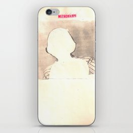 """withdrawn"" iPhone Skin"