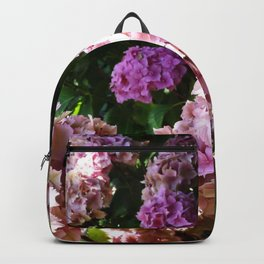Pink Hydrangeas Backpack