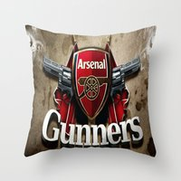 arsenal Throw Pillows featuring ARSENAL by Acus