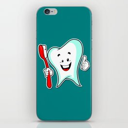 Dental Care happy Tooth with Toothbush iPhone Skin