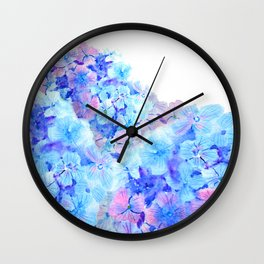 mountain of hydrangea Wall Clock