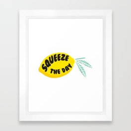 Squeeze The Day Lemon Framed Art Print
