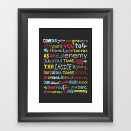Come As You Are | Nirvana Framed Art Print