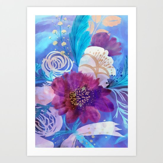 Spring floral mood Art Print