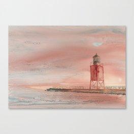 Charlevoix South Pierhead Canvas Print