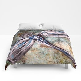 Rustic Dragonfly Art Comforters