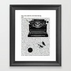 Letters To Saul Framed Art Print