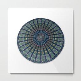 Mandala Indian Round Tapestry Table Cloth Metal Print