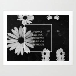 little notes : she was a hurricane Art Print