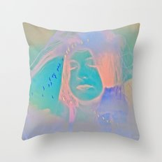 Kiss me just once again and I'll be on my way Throw Pillow