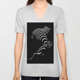 0774-AR BBW Sensual Legs Hips and Ass of a Large Woman Big Beautiful Art Nude Black and White Unisex V-Neck