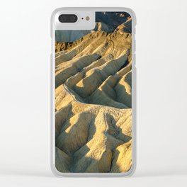 Death Valley - Zabriskie Point Clear iPhone Case