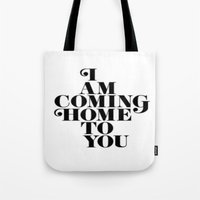home sweet home Tote Bags featuring Home by Maheva K