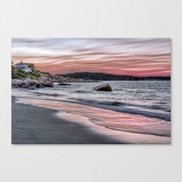 Pink Sunset on the beach Canvas Print