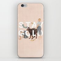 stay gold iPhone & iPod Skins featuring Stay Gold by Heather Landis