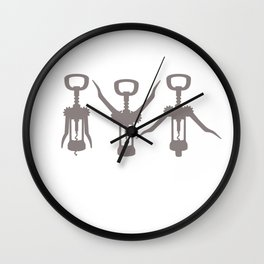 Wine Lover Gift I Workout CorkScrew Wine Gift Wall Clock