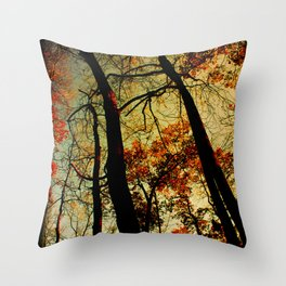 Fall Sunset Trees Throw Pillow