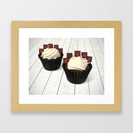 Happy Birth Day cup cakes Framed Art Print