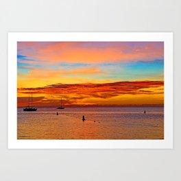 Burning Sky Art Print