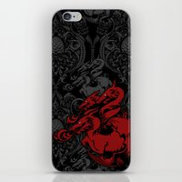targaryen iPhone & iPod Skins featuring Dragon Damask by Jimiyo