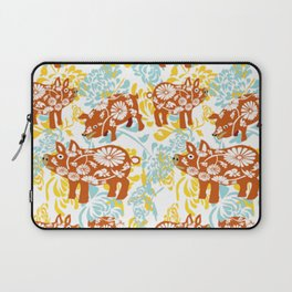 The Year of The Pig with Chysanthemums Laptop Sleeve
