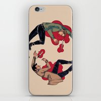 destiel iPhone & iPod Skins featuring Love, live, Love, Die. -Destiel- by Mack Robles