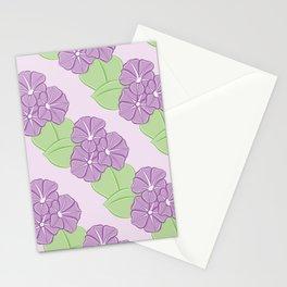 Morning Glory Pattern Stationery Cards