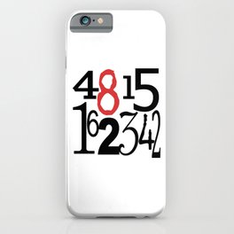 The Numbers in White iPhone Case