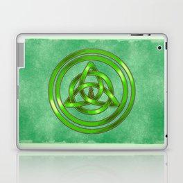 Awen Triqueta - Gold and Green Laptop & iPad Skin