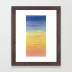 Desert sunset collection Framed Art Print