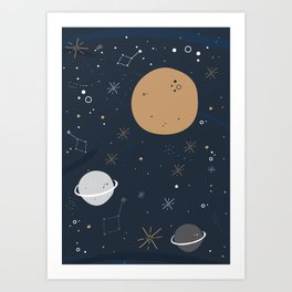 The Moon and the Stars Art Print